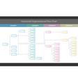 horizontal organizational corporate flow chart vector image vector image