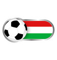 hungary soccer icon vector image vector image