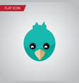 isolated bird flat icon sparrow element vector image