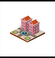 isometric icon representing modern house vector image