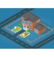 Isometric scene representing modern house vector image vector image