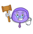 judge blueberry roll cake mascot cartoon vector image vector image