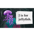 Letter J is for jellyfish vector image vector image