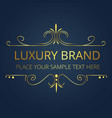 luxury brand gold text modern design image vector image vector image