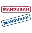 Mandurah Rubber Stamps vector image vector image
