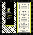 modern restaurant menu design template layout vector image vector image