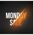 Monday Sale Energy Explosion Concept vector image