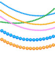 multicolored beads for festive decor for the vector image vector image
