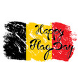 national flag of belgium vector image vector image