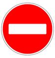 No entry road sign vector image vector image