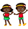 papua new guinea boy and girl on white background vector image vector image