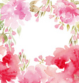Peonies watercolor vector image vector image