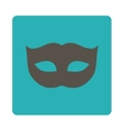 Privacy Mask flat grey and cyan colors rounded vector image