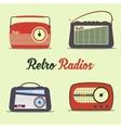 Radio retro style vector image vector image