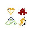 real estate home property design template set vector image vector image