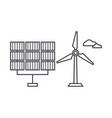renewable energy thin line icon concept renewable vector image