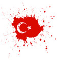 republic day in turkey concept background vector image vector image