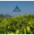 Retro landscape pattern of geometric shapes vector image