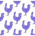rooster pattern hen or chicken hand drawn vector image vector image