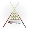 russian billiards background vector image