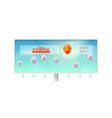 sale action ad billboard with inflatable balloons vector image vector image