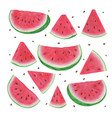 set markers hand drawn watermelon slices on vector image vector image