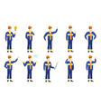set of builder characters vector image