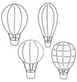 set of hot air balloon vector image