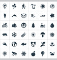 set of simple ecology icons vector image