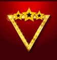 shining retro triangular light banner vector image vector image