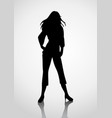 silhouette of a woman vector image