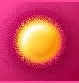 sun circle halftone logo vector image vector image