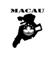 symbol of macau and map vector image vector image