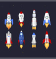 technology ship rocket cartoon design vector image vector image
