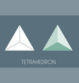 tetrahedron platonic solid sacred geometry vector image vector image