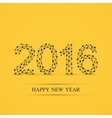 Text design Happy new year 2016 Yellow vector image vector image