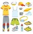 Top view running clothes cartoon flat vector image