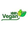 vegan bio ecology organic logo and icon label tag vector image
