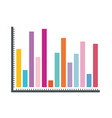 white background with statistical graphs colour vector image vector image