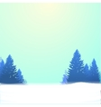 Winter background with pines and snow vector image vector image
