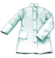 White medical gown working uniform vector image