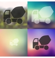 Cement Mixer icon on blurred background vector image