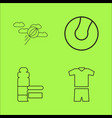 sport and wellness linear outline icon set vector image
