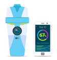 smart hydrate bottle with filter smartphone vector image