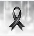 black ribbon mourning and melanoma symbol