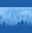 abstract background of forest and mountains with vector image vector image