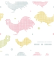 abstract textile roosters frame corner pattern vector image vector image