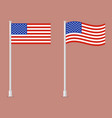 american flag on pole vector image