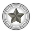american symbol the star rings grey vector image