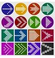 arrow sign dots icon set vector image vector image